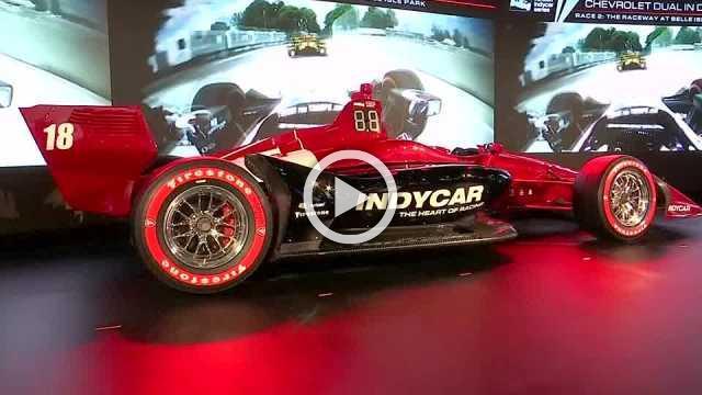 Indycar champion Josef Newgarden unveils new design at Detroit Autio Show