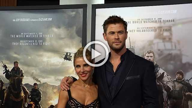Chris Hemsworth and Michael Shannon attend the world premiere of their new film,