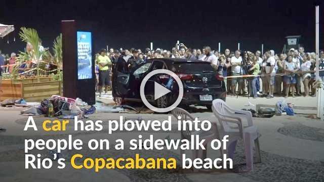 One baby dead, 15 injured after car plows through Copacabana sidewalk