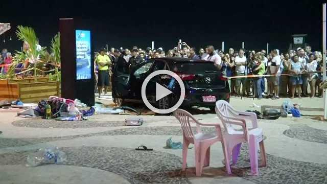 Baby dies, many injured after car rams into beachgoers at Copacabana