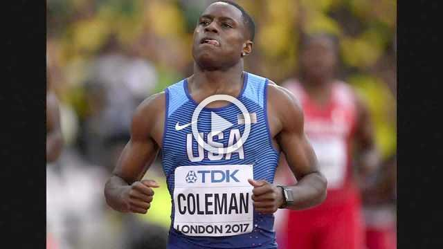 American Christian Coleman sets new indoor 60-metre sprint world record