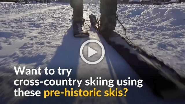 Pre-historic skiing meets modern winter sports ahead of China's 2022 Winter Olympics