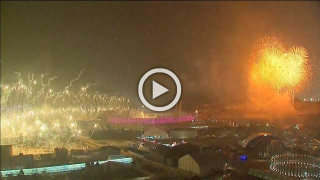 Spectacular fireworks light up Olympic Opening Ceremony
