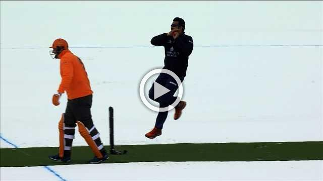 Fast, furious and freezing - cricket on ice