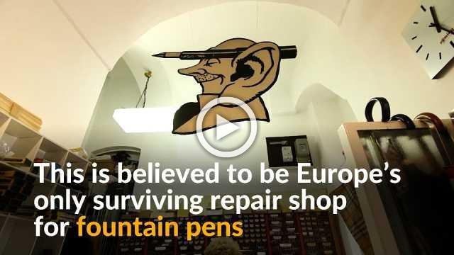 Europe's only surviving fountain pen repair shop proves that the writing is still not on the wall for pens