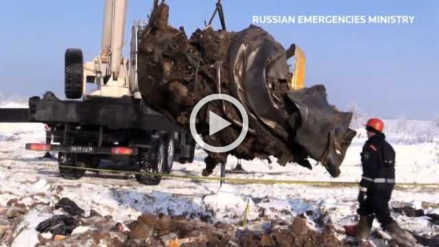 Engines found at site of Russian plane crash