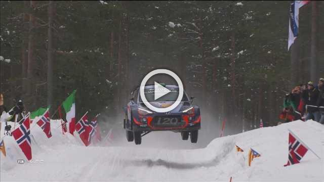 Thierry Neuville leads Rally Sweden