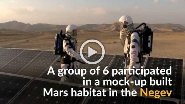 Researchers practice living on Mars in Israel's desert