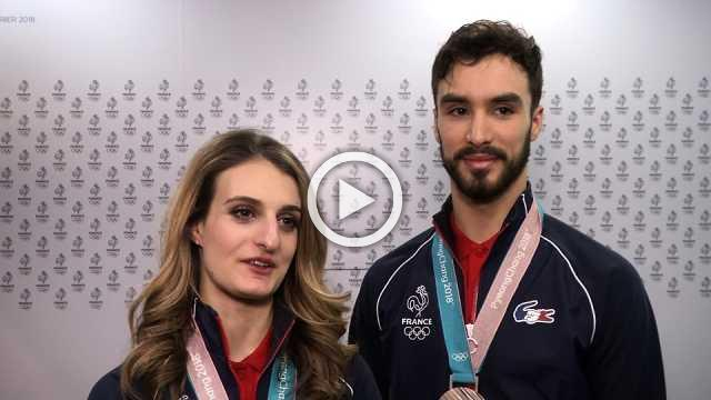 French ice dancers happy with silver despite wardrobe incident
