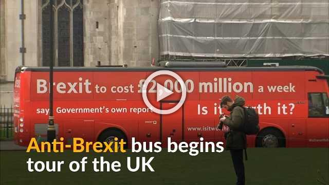Anti-Brexit campaign bus kicks off on tour