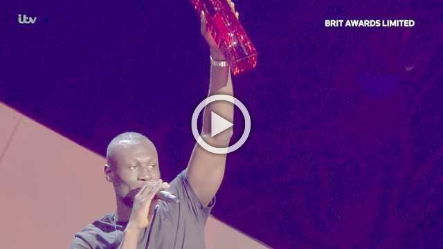 British rapper Stormzy gets political at BRIT Awards