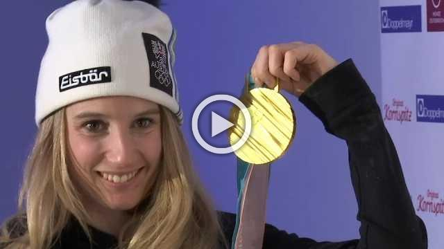 Austria's Gasser says her gold being first ever Olympic big air gold medal is a