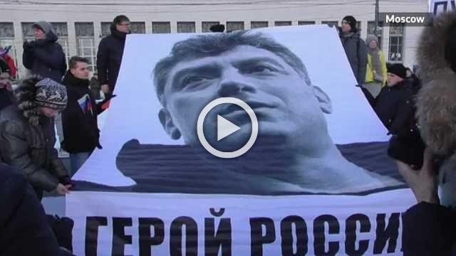 Thousands of Russians attend Nemtsov memorial marches