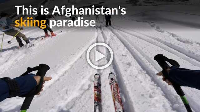 Shedding past violence, Afghan town embraces skiing