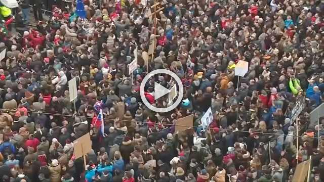 Tens of thousands protest journalist's death in Slovakia