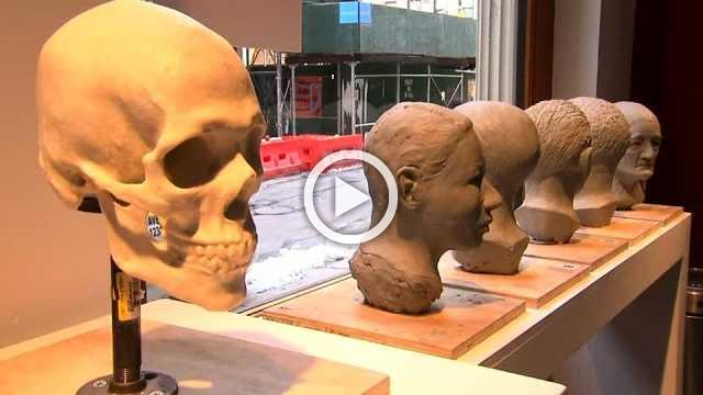 NY art students mold clay into faces of dead, nameless migrants