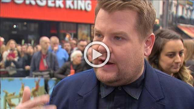 Corden and Ridley at 'Peter Rabbit' UK Premiere