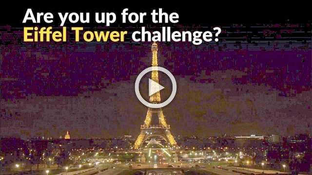 Athletes delight in race up the Eiffel Tower