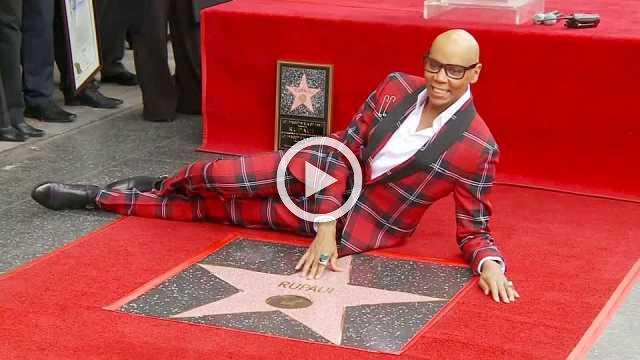 RuPaul honored with Walk of Fame star