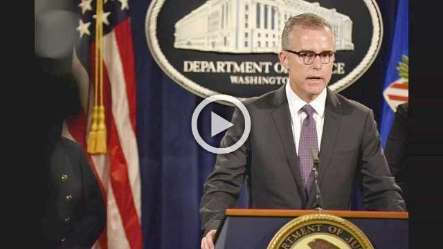 FBI's McCabe fired two days before retirement