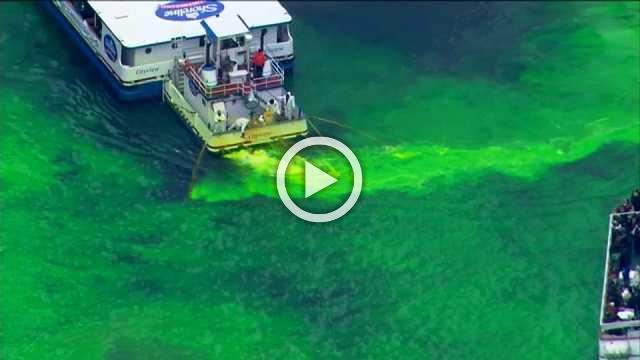 Chicago River goes green for St. Patrick's Day