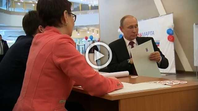 Putin votes in Russian presidential election