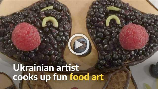 From blackberry afro to cheesy towns, Ukrainian artist injects creativity in the kitchen