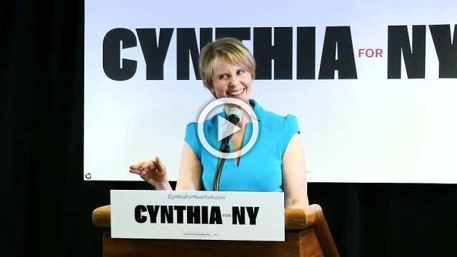 Cynthia Nixon holds her first campaign event