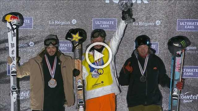 Ferreira wins men's halfpipe crown in Tignes