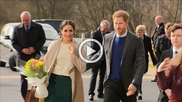 Britain's Prince Harry and Meghan Markle kick off Northern Ireland visit
