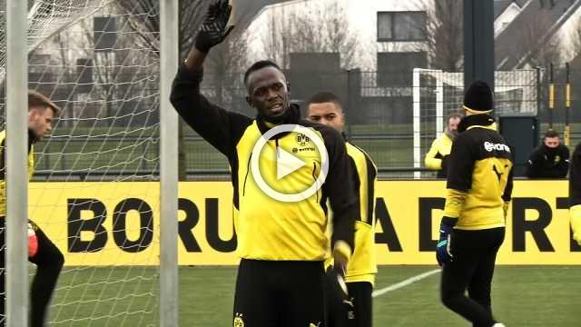 Sprint king Bolt on target in Borussia Dortmund training