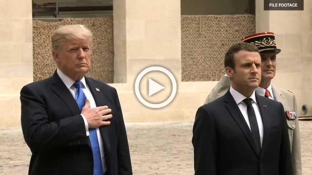 Trump and Macron face differences in French visit