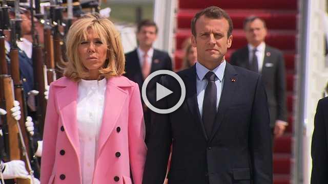 Macron arrives for U.S. state visit
