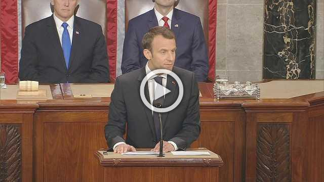 Congress cracks up over Macron's Trump kiss reminder