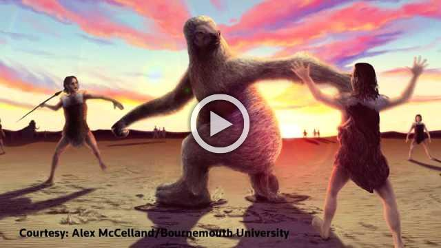 Giant sloth vs. ancient man: footprints reveal prehistoric hunt