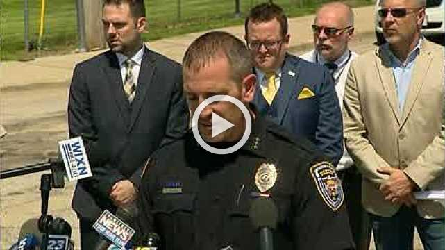 Officer shoots, wounds school shooting suspect