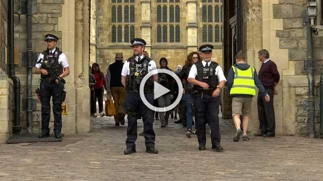 No threat, but UK royal wedding fans in Windsor face tight security