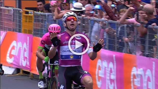 Viviani sprints to stage 13 win, Yates retains lead in Giro d'Italia