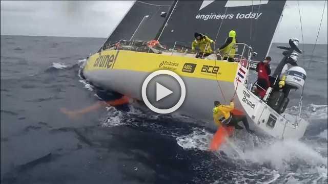 Brunel break record on leg 9 of Volvo Ocean Race
