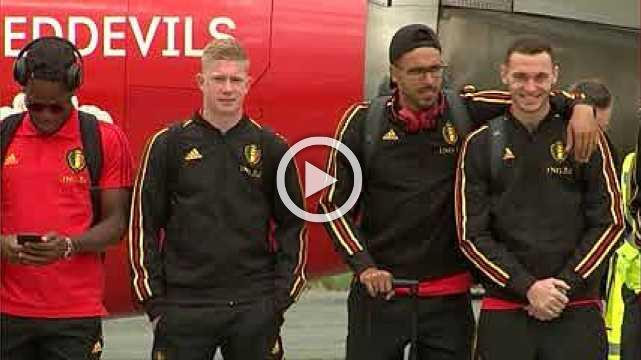 Belgium's Red Devils depart for the World Cup in Russia