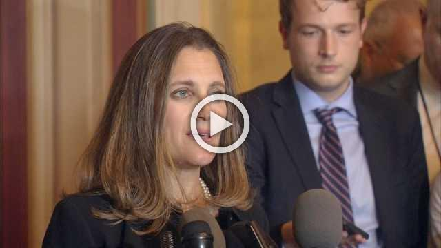 """U.S. trade actions """"illegal"""": Canada's Freeland"""