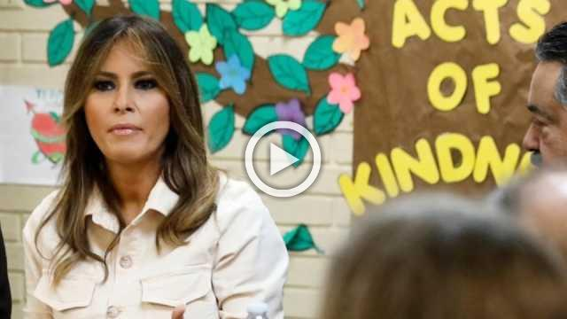 Melania visits facility holding detained kids