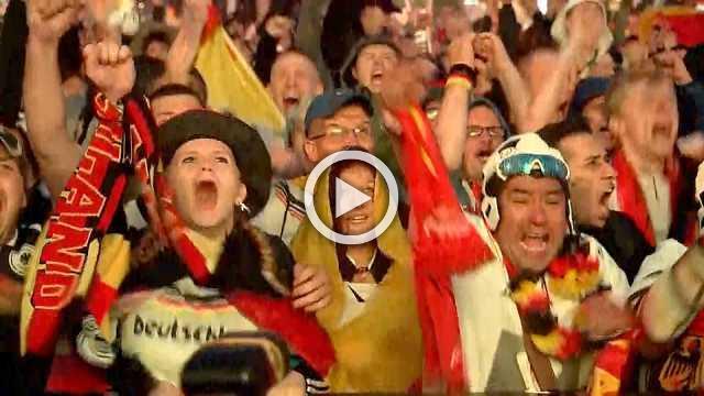 Fans in Berlin hail Germany's last-minute win against Sweden