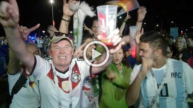 Germany fans celebrate big win over Sweden in Sochi