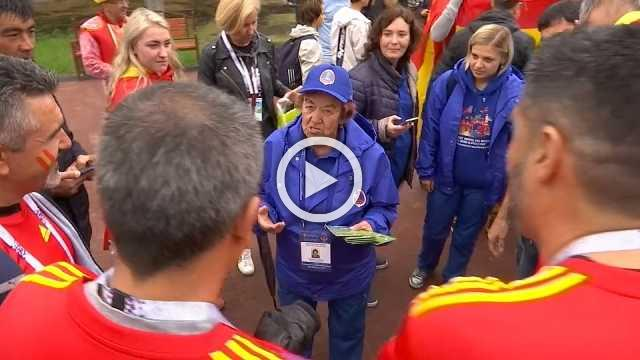 Russia's senior volunteer is getting kick out of the World Cup