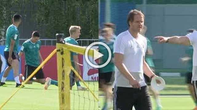 Germany train, more relaxed after beating Sweden