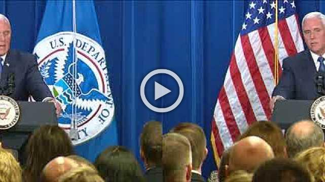 Pence pledges support for ICE