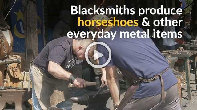 Ancient blacksmith trade hammered into limelight at Polish festival