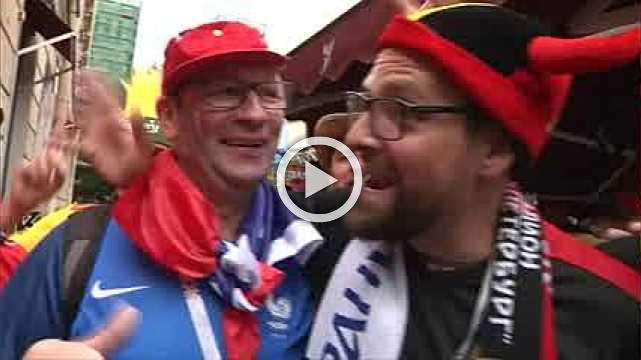 Belgium fans in high spirits ahead of semi-final clash with France