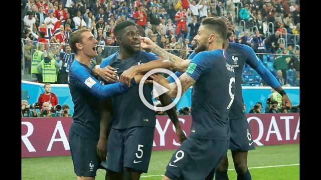 Stills edit of France's 1-0 victory over Belgium in the World Cup semi-final